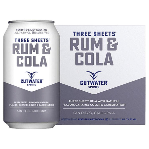 Cutwater Rum & Cola Canned Cocktail 4 Pack - ishopliquor
