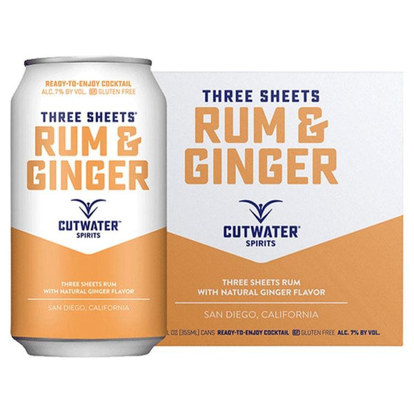 Cutwater Rum & Ginger Canned Cocktail 4 Pack - ishopliquor