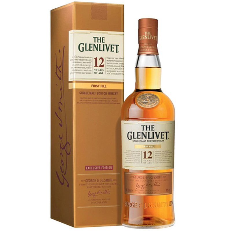Glenlivet 12 Yr First Fill Scotch - ishopliquor
