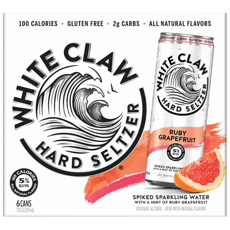 White Claw Ruby Grapefruit 6 Pack - ishopliquor