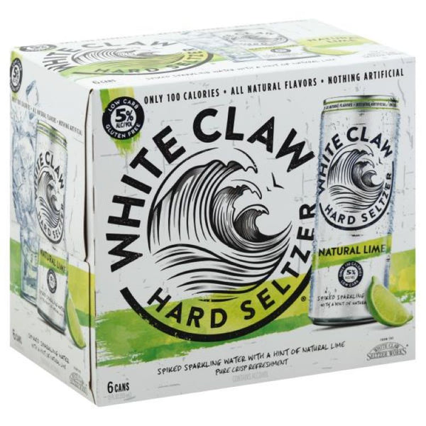 White Claw Hard Seltzer Natural Lime 6pk - ishopliquor