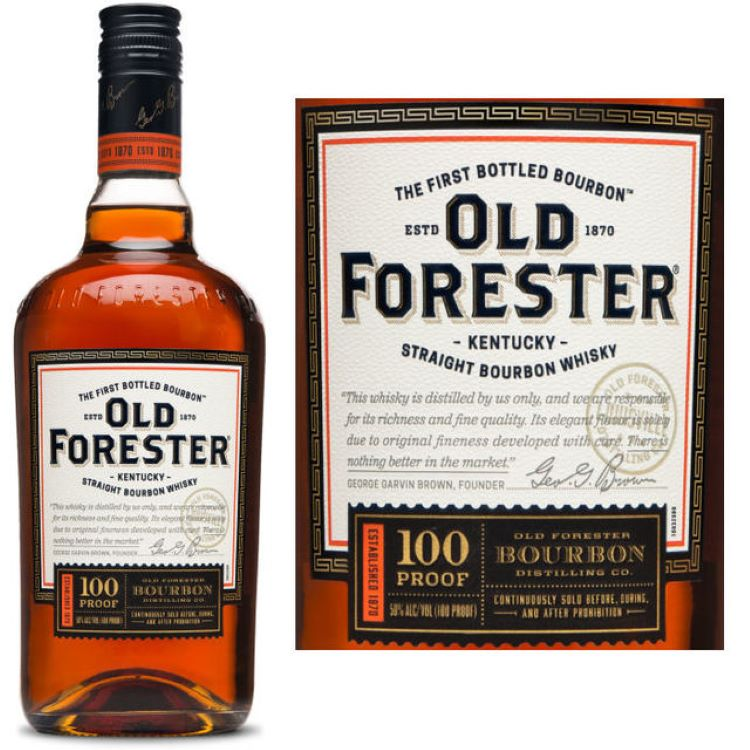 Old Forester 100 Proof Bourbon - ishopliquor
