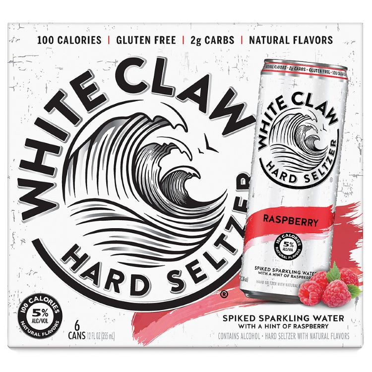 White Claw Hard Seltzer Raspberry 6pk - ishopliquor