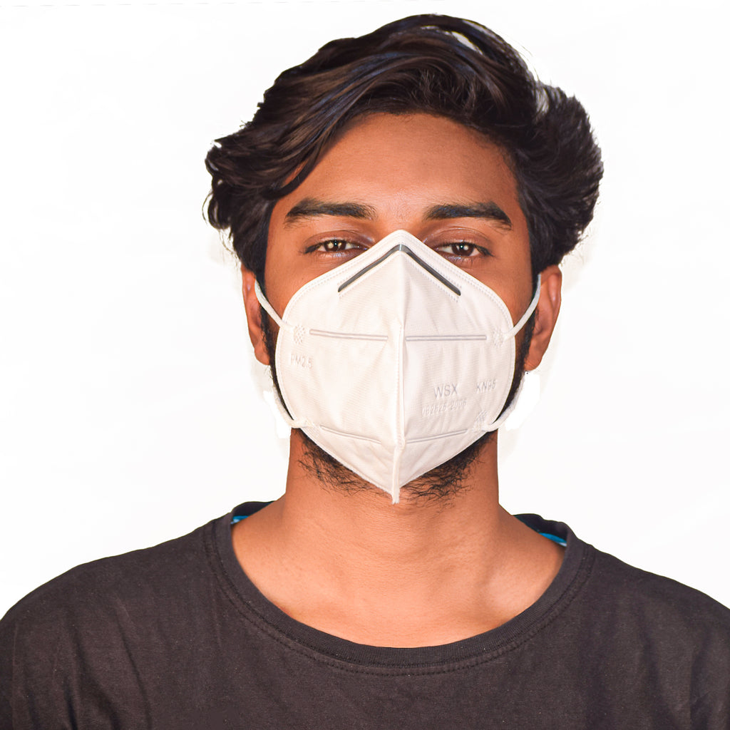 N95 Anti Pollution Virus Protection Mask Without Respirator White (Pack of 5)