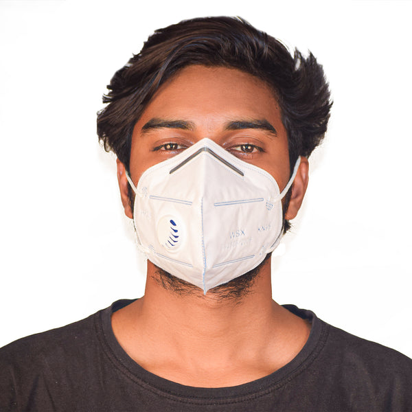 KN95 Anti Pollution Virus Protection Mask With Respirator White (Pack of 5)