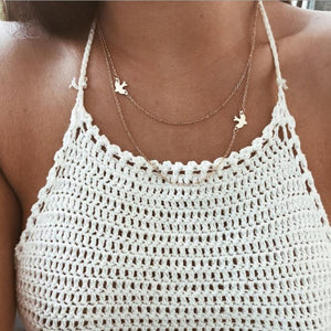 Boho Gold Color Star Pendant necklace For Girl chain necklaces for women  Kolye Bijoux Collares Mujer gargantilha Collier Femme