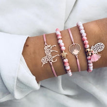 Load image into Gallery viewer, Boho Rose Map Bracelets & Bangles for Women Bohemian Round Beaded Charm Bracelet Set Fashion Multilayer Accessories 2019 Bijoux