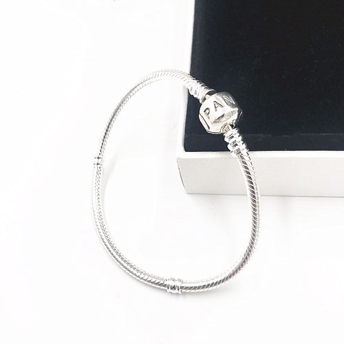 Jewelry 100% Silver Snake Chain 925 charm pandoras bracelets for women Charm bracelets bangle Jewelries Pulseira Gift,1pz