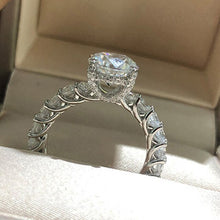 Load image into Gallery viewer, WEGARSTI 925 Silver Jewelry Big Cubic Zirconia Ring Fashion Wedding Jewelry Female Engagement Ring Female Crystal Silver Party