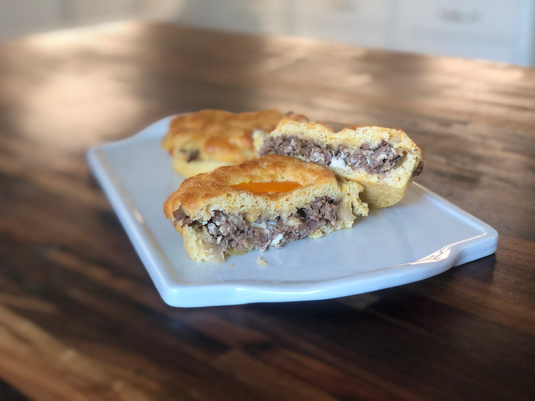 Philly Cheesesteak Kingwich Kolache  (6, 12 or 24 pack options)