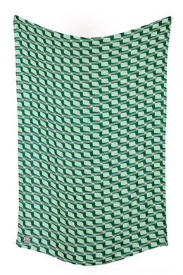 Rayon Sjaal Graphic Green