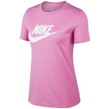 Nike Damen W NSW Tee ESSNTL ICON Futur T-Shirt , Nike Bekleidung Magic Flamingo/(White), S, BV6169