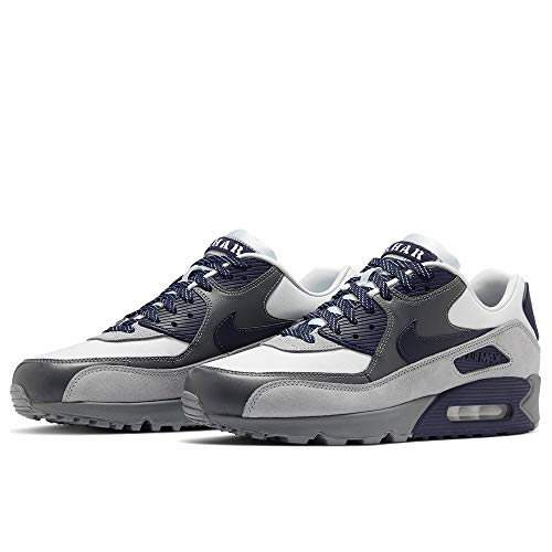 Nike AIR MAX 90 NRG Herren Sportschuh Laufschuh, White Neutral Indigo Smoke Grey