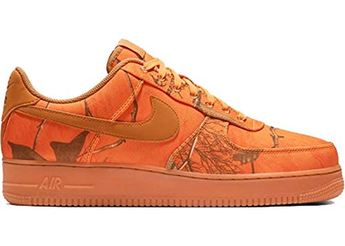 Amazon || Herren Nike Air Force 1 '07  Basketball schuhe, Mehrfarbig (Orange Blaze / Weizen / Gum Med Brown 800)