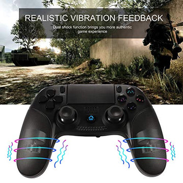 Wireless controller for PlayStation PS4 Controller, Shumeifang mit Dual-Vibration - Touch-Panel + Rutschhemmung + Kopfhörer-Jacke Wireless Gamepad ist gut für PS4 / PS3