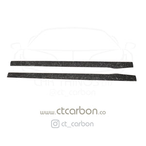 MERCEDES C63/C63S W205 COUPE & SALOON FORGED CARBON FIBRE SIDE SKIRTS - D STYLE - CT Carbon
