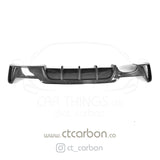 BMW F32 & F33 4 SERIES CARBON FIBRE DIFFUSER - MP STYLE - TWIN EXHAUST - CT Carbon