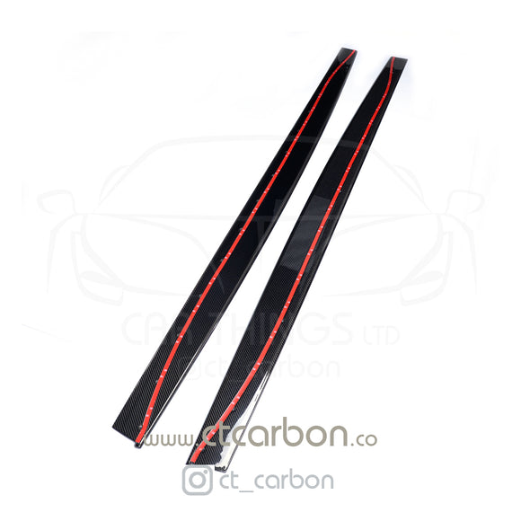 BMW M3/M4 (F80 F82 F83) CARBON FIBRE SIDE SKIRTS - MP STYLE - CT Carbon