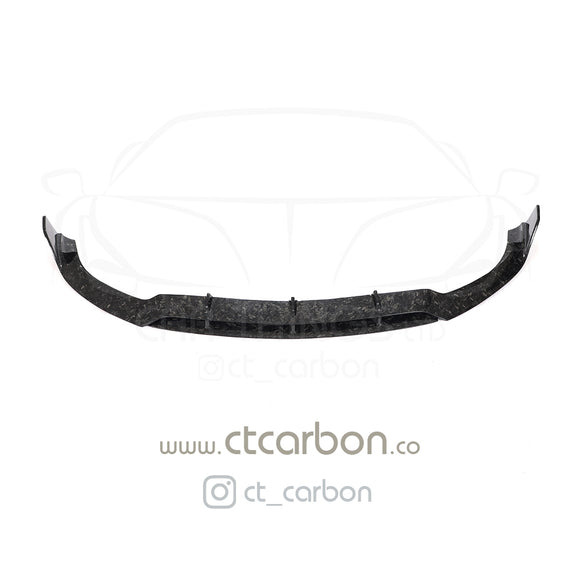 MERCEDES C63 W205 COUPE FORGED CARBON FIBRE SPLITTER - B-STYLE - CT Carbon