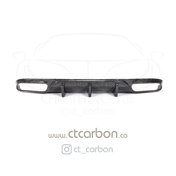 MERCEDES C63/C63S W205 COUPE FORGED CARBON FIBRE DIFFUSER - BIG FIN - CT Carbon