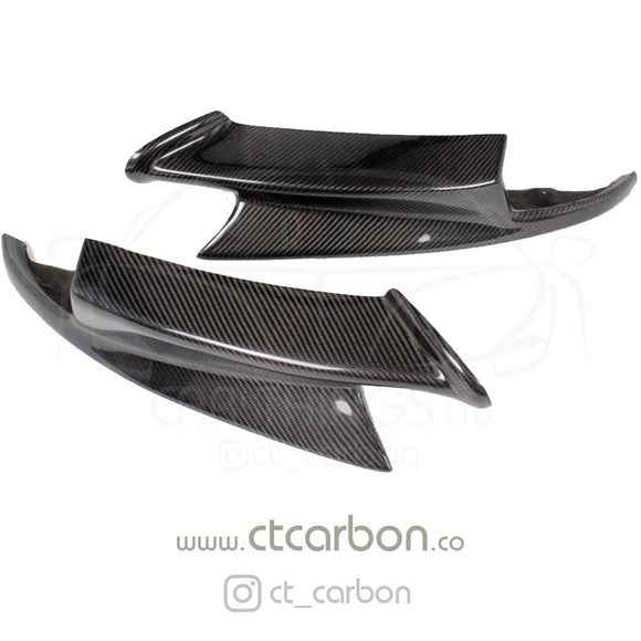 BMW M3 (E92/E90) PERFORMANCE STYLE CARBON FRONT LIP SPLITTERS - CT Carbon