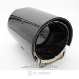 BMW CARBON EXHAUST TIPS 135i/140i/235i/240i/335i/340i/435i/440i - BLACK (SET OF 2) - CT Carbon