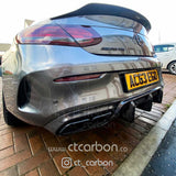 MERCEDES C63/C63S W205 COUPE CARBON SPOILER - DUCKTAIL PS STYLE - CT Carbon