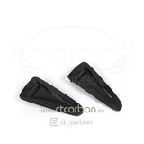 NISSAN GTR R35 CARBON FIBRE BONNET HOOD SCOOPS - CT Carbon