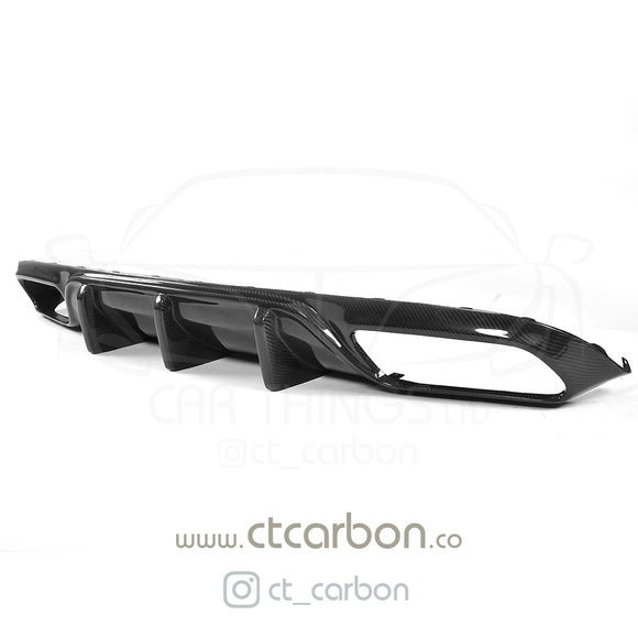 MERCEDES W205 C63 & C63 COUPE 2DR CARBION DIFFUSER - OEM+ CT STYLE - CT Carbon