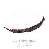 BMW F90 M5 & M5C COMPETITION CARBON FIBRE SPLITTER - R STYLE - CT Carbon