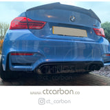 BMW M3/M4 (F80 F82 F83) CARBON FIBRE DIFFUSER - MP STYLE - CT Carbon