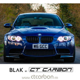 BMW M3 / 3 SERIES E92/E93 DOUBLE SLAT BLACK GRILLS - BLAK BY CT CARBON