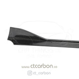 TOYOTA SUPRA A90 CARBON FIBRE SIDE SKIRTS - CT CARBON