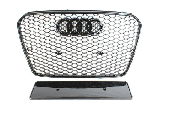 AUDI A5 S5 2012-2016 B8.5 ALL BLACK HONEYCOMB GRILL - BLAK BY CT CARBON - CT Carbon