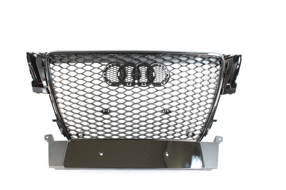 AUDI A5 S5 B8 2008-2012 ALL BLACK HONEYCOMB GRILL - BLAK BY CT CARBON - CT Carbon