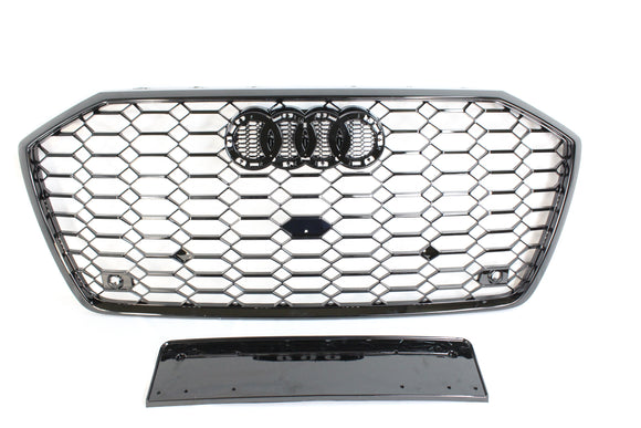 AUDI A6 S6 C8 2019-ON ALL BLACK HONEYCOMB GRILL - BLAK BY CT CARBON - CT Carbon