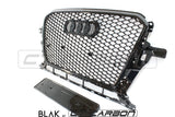 AUDI Q5 SQ5 2013-2015 ALL BLACK HONEYCOMB GRILL - BLAK BY CT CARBON