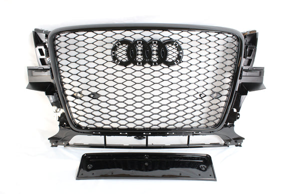 AUDI Q5 SQ5 2008-2012 ALL BLACK HONEYCOMB GRILL - BLAK BY CT CARBON