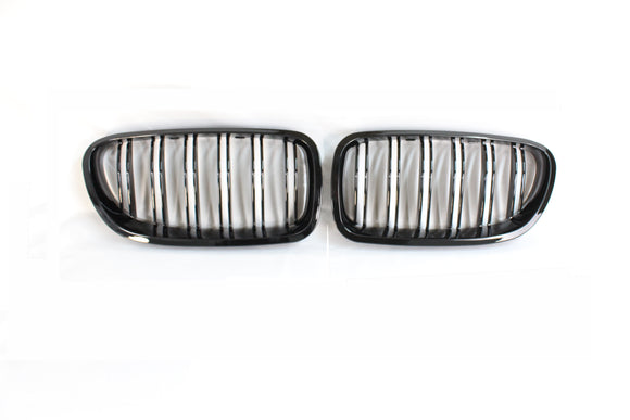 BMW F10 M5 & 5 SERIES BLACK DOUBLE SLAT GRILLS - BLAK BY CT CARBON - CT Carbon