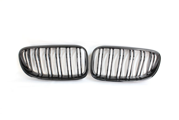 BMW 3 SERIES E92 & E93 LCI DOUBLE SLAT BLACK GRILLS - BLAK BY CT CARBON