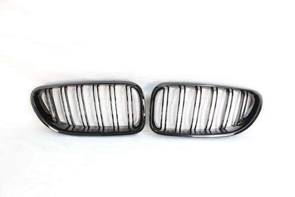 BMW 6 SERIES & F06 F12 F13 DOUBLE SLAT BLACK GRILLS - BLAK BY CT CARBON - CT Carbon
