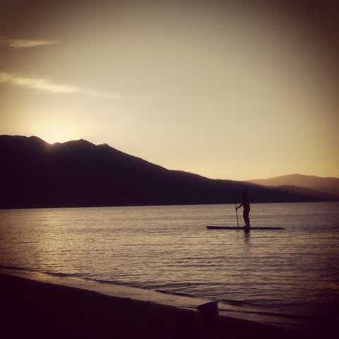 Paddling boarding Lake Tahoe - Ginger Threads Collections