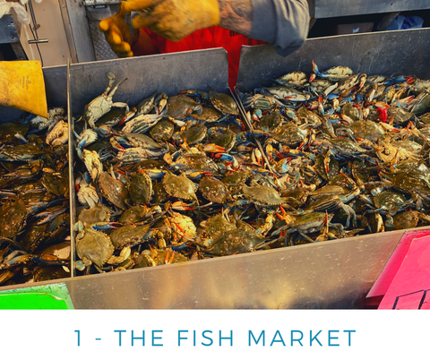Ginger Threads Collections Blog: Visit the DC Wharf - The Fish Market