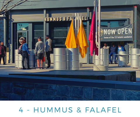 Ginger Threads Collections Blog: Visit the DC Wharf - Hummus and Falafel