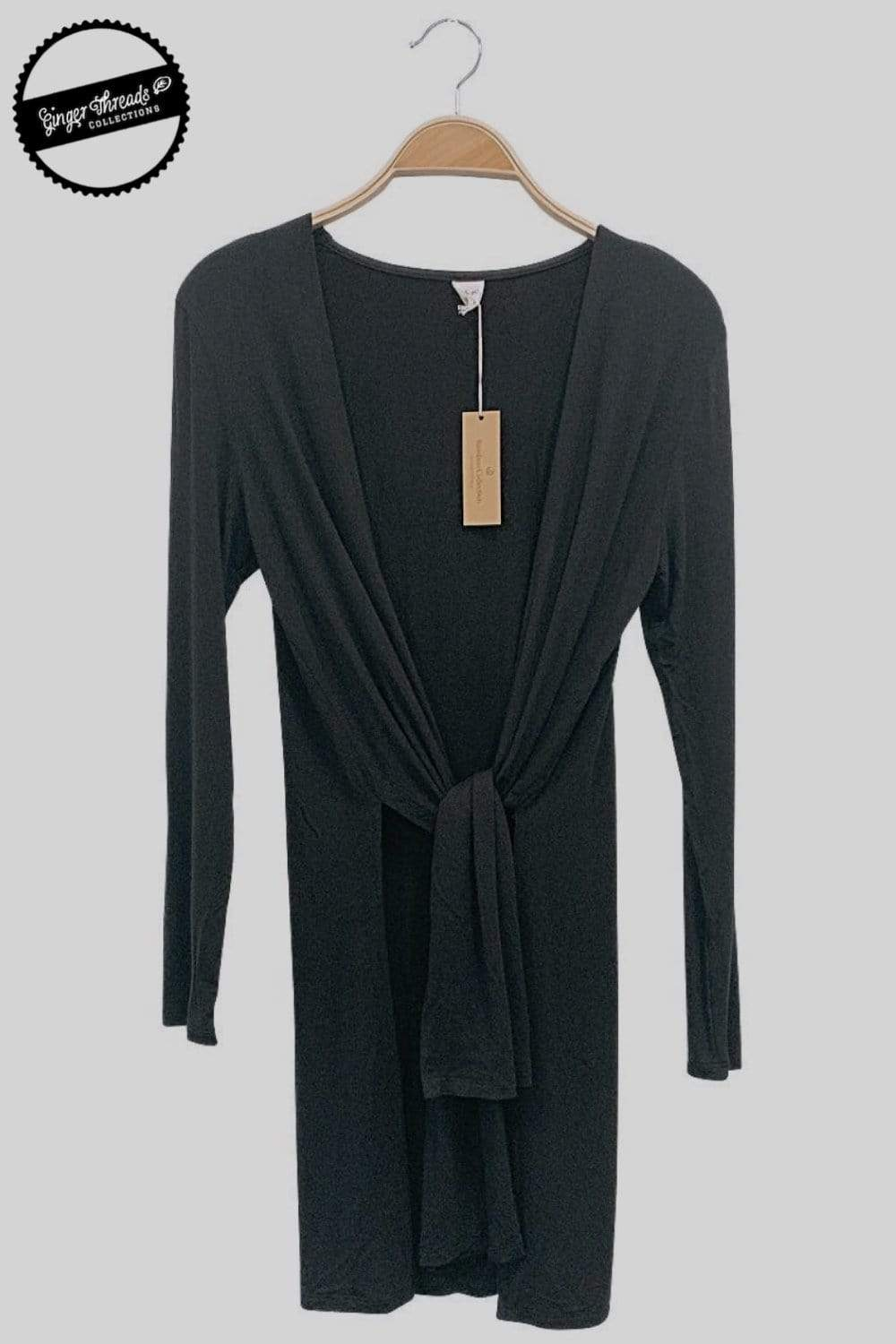 Ginger Threads Collections Black Bamboo Long Sleeve Cardigan