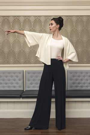 Ginger Threads Collections Black bamboo palazzos