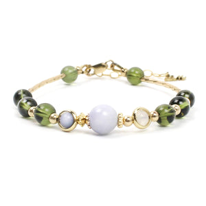 Ginger Threads Collections bracelets Energy Healing Stone Bracelet - Alien