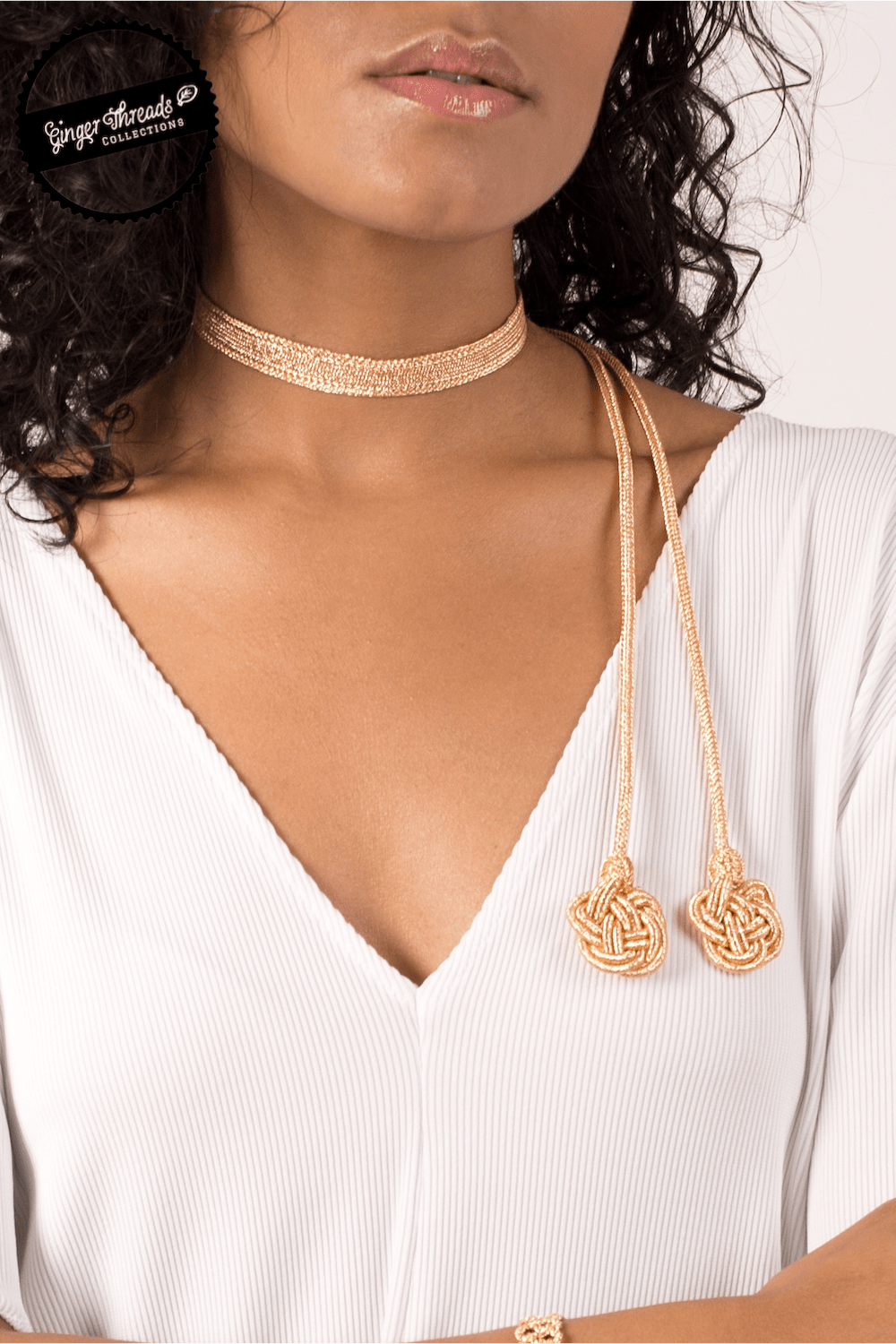 Ginger Threads Collections choker Gold Moroccan Choker
