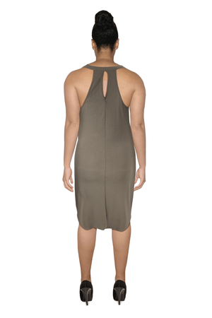 Ginger Threads Collections dress Taupe Sleeveless Dress