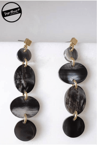 Ginger Threads Collections earrings Buffalo Horn Dark Dangle Earrings